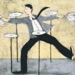 Manter o foco: A arte de girar os pratos